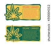 organic cannabis emblem sticker.... | Shutterstock .eps vector #450004312
