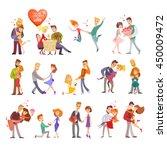 great set of happy cartoon... | Shutterstock .eps vector #450009472