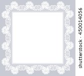 white openwork lace napkin on a ... | Shutterstock .eps vector #450014056