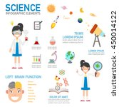 science infographic vector... | Shutterstock .eps vector #450014122
