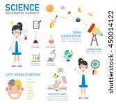 science infographic vector... | Shutterstock .eps vector #450014122