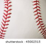 macro baseball showing the red... | Shutterstock . vector #45002515