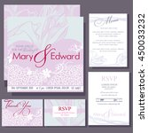 set of wedding cards or... | Shutterstock .eps vector #450033232
