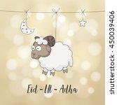 eid ul adha greeting card.... | Shutterstock .eps vector #450039406