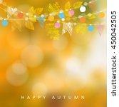 autumn  fall background. card... | Shutterstock .eps vector #450042505