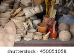 basket wicker is thai handmade.   Shutterstock . vector #450051058