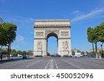 arc de triomphe paris  france   ... | Shutterstock . vector #450052096