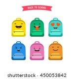 smiley  emoticons and emoji bag ...   Shutterstock .eps vector #450053842