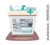 pharmacy store interior. street ... | Shutterstock .eps vector #450058132