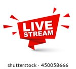 Live Stream  Red Vector Live...