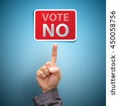 vote no concept   finger... | Shutterstock . vector #450058756