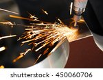 drill with diamond tipped... | Shutterstock . vector #450060706