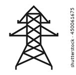 electrical tower isolated icon... | Shutterstock .eps vector #450061675