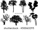 8 set vector trees | Shutterstock .eps vector #450063295