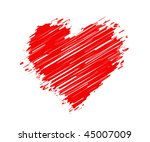 abstract heart vector | Shutterstock .eps vector #45007009