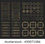 vintage set exclusive borders... | Shutterstock . vector #450071386