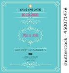 vintage wedding invitation card ... | Shutterstock .eps vector #450071476