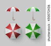 vector set of white green red... | Shutterstock .eps vector #450072436