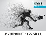 silhouette of a tennis player... | Shutterstock .eps vector #450072565