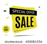 sale banner on a abstract gray...   Shutterstock .eps vector #450081556