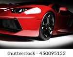 red fast sports car in...   Shutterstock . vector #450095122