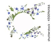wild flowers painted by... | Shutterstock . vector #450096466