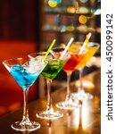 multicolored cocktails at the... | Shutterstock . vector #450099142