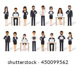 group of diverse working people ... | Shutterstock .eps vector #450099562