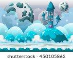 cartoon vector heaven landscape ... | Shutterstock .eps vector #450105862