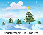 seamless cartoon vector snow... | Shutterstock .eps vector #450105895