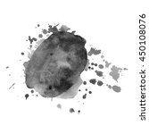 abstract watercolor grayscale... | Shutterstock .eps vector #450108076