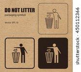 do not litter vector packaging... | Shutterstock .eps vector #450112366