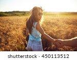couple in love enjoying tender... | Shutterstock . vector #450113512