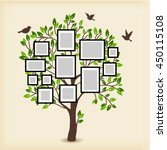 memories tree with picture... | Shutterstock .eps vector #450115108