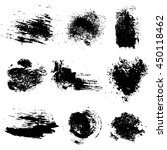 vector set of black inc blots... | Shutterstock .eps vector #450118462