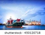 logistics and transportation of ...   Shutterstock . vector #450120718