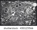 black   white sci fi... | Shutterstock .eps vector #450125566