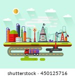 vector flat style infographic... | Shutterstock .eps vector #450125716