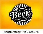 beer logo label vector... | Shutterstock .eps vector #450126376