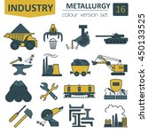 metallurgy icon set. colour... | Shutterstock .eps vector #450133525