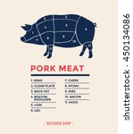 pork with specified type of... | Shutterstock .eps vector #450134086