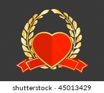 vector heart shield | Shutterstock .eps vector #45013429