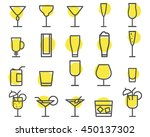 beverage icons set. cocktail ... | Shutterstock .eps vector #450137302