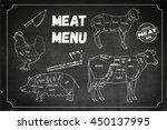 meat menu. set of meat symbols  ... | Shutterstock .eps vector #450137995