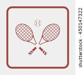 tennis rackets with ball icon. | Shutterstock .eps vector #450147322