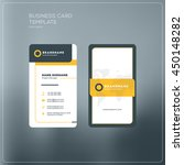 vertical business card print... | Shutterstock .eps vector #450148282