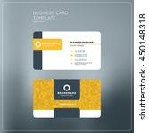 business card print template... | Shutterstock .eps vector #450148318