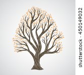 hand draw tree with leaves | Shutterstock .eps vector #450149032