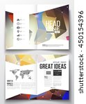 set of business templates for... | Shutterstock .eps vector #450154396