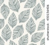 seamless stylish leaves pattern | Shutterstock .eps vector #450156406